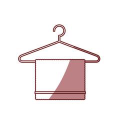 Bath towel symbol vector