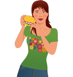 Fast food lover vector image vector image