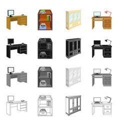 furnishings amenities style and other web icon vector image