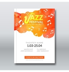Jazz music poster templates set Hand drawn vector image vector image