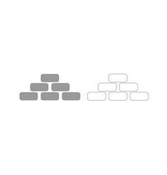 pyramid grey set icon vector image