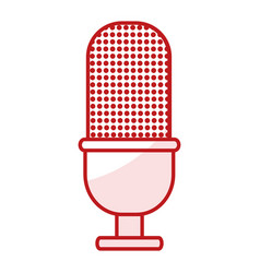 retro microphone isolated icon vector image vector image