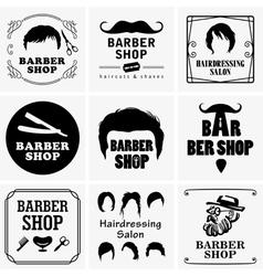 Barbershop graphics vector image vector image