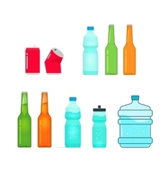 Bottles collection isolated on white full vector
