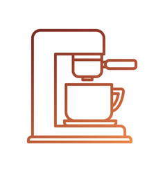 coffee maker with porcelain cup machine appliance vector image
