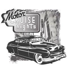 mafia classic car grunge vector image vector image