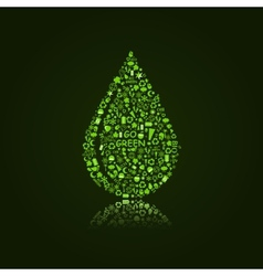 Water Drop on Black Background vector image