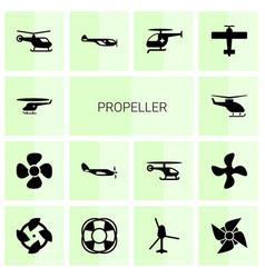 14 propeller icons vector