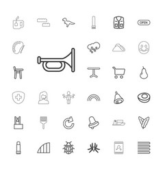 33 color icons vector