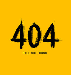 404 error page not found in grunge style vector image
