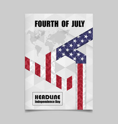 4th july independence day background design vector image