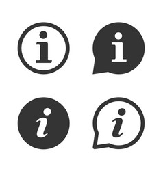 about us and information icons set vector image
