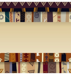 Abstract background with African ornaments vector image