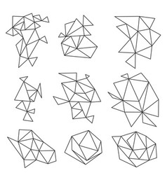 abstract geometric shapes set on white vector image