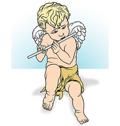 Angel Playing a Flute vector image