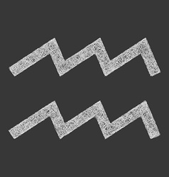 Aquarius zodiac sign line art vector