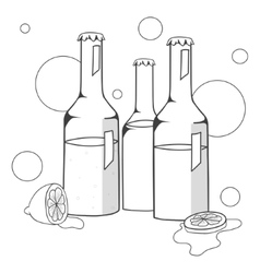 Bottles with alcohol vector