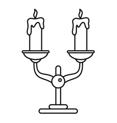candles stand icon outline style vector image