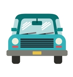 car front isolated icon design vector image
