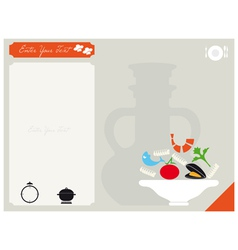Card for the recipe vector image