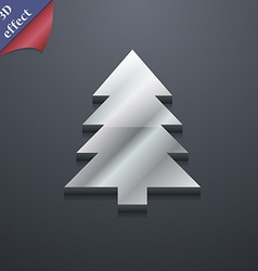 Christmas tree icon symbol 3D style Trendy modern vector
