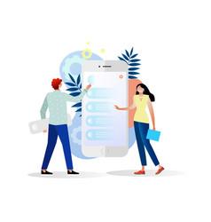 concept of apps design ui design teamwork vector image