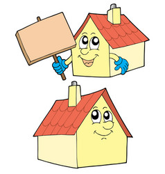 Cute houses vector