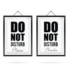 do not disturb in frame design in colorful vector image