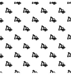 excavator pattern seamless vector image