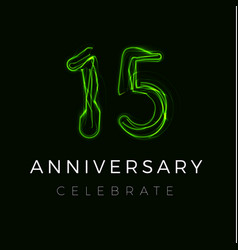 Fifteen fifteenth anniversary poster for party vector