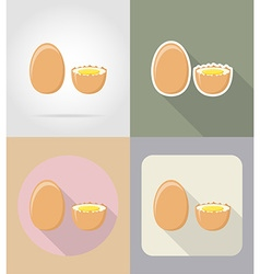 Food objects flat icons 05 vector
