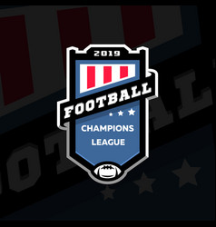 Football champions league emblem logo on a dark vector