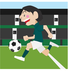 Football soccer sport cartoon set vector