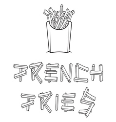 French fries2 resize vector