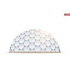 Geodesic dome hexagon honeycombs form vector