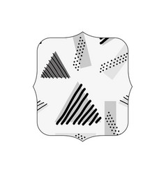 Grayscale quadrate with geometric style memphis vector