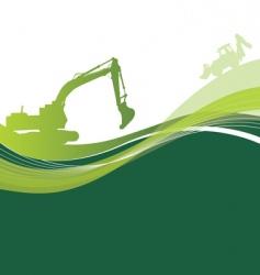 green construction vector image