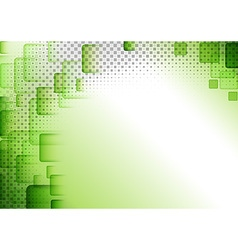 Green Squared Abstract Background vector image
