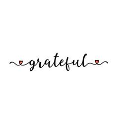 Hand sketched grateful word as banner lettering vector
