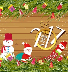 Happy new year 2017 christmas background with vector