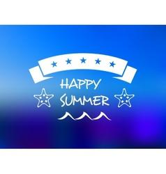 Happy summer five star banner vector