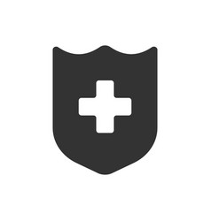 health icon glyph style vector image