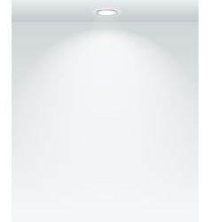 Illuminated with spot empty wall template vector