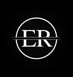 initial er letter linked logo business template vector image