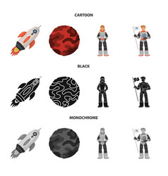 isolated object of astronomy and technology symbol vector image
