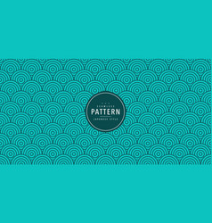 japanese seamless round pattern traditional vector image