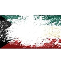 Kuwait flag grunge background vector