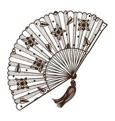 Ladys fan vector image