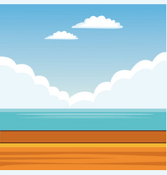 landscape background cartoon vector image