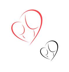Logo motherhood and childhood vector
